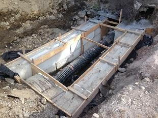 Messinger Street Storm Sewer Repair Under Construction sm Messinger Street Storm Sewer Repair